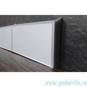 Плинтус алюминиевый  70х10х2500 мм на клипсах с полимерным покрытием, цвет по RAL