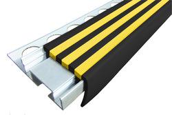 ALPB - Закладной алюминиевый профиль 32 мм х 2,4 м, цвет Чёрно/Жёлтый,Чёрно-Серый, Жёлтый, Синий, Красный, Ярко-Зелёный, Белый, Голубой, под плитку толщиной до 10 мм, цена за 1 шт
