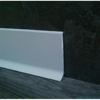Плинтус алюминиевый 100х11х2400 мм L-образный с анодированным покрытием цвет Серебро