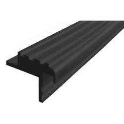 Безопасный Шаг (БШ-40) закладной профиль противоскользящий из синтетической резины, цвет черный, , цена за 1 м