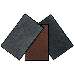 Коврик 5 х 400 х 600 мм ворсовый ребристый на ПВХ основе цвет черный, серый, коричневый