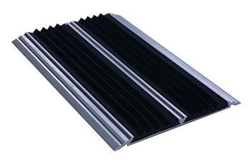 Накладка на ступени 77х6х2000 мм алюминиевая противоскользящая с 2-мя резиновыми вставками, цена за 1 шт.