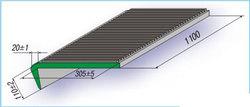 Проступь 1100х305х110 мм резиновая большая, цвет Черный
