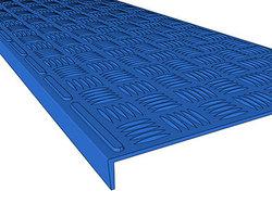 Проступь 740х250х30 мм цветная, малая облегченная резиновая, цвет синий, серый, зеленый, красный, бежевый, охра