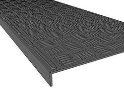 Проступь 740х250х30 мм резиновая малая облегченная, цвет Черный, 1 сорт