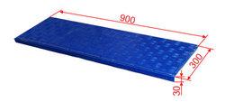 Проступь 900х300х30 мм цветная, малая облегченная резиновая, цвет синий, серый, зеленый, красный, бежевый, охра