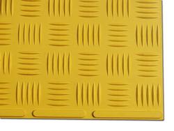 Проступь 740х250х30 мм резиновая цветная малая облегченная, цвет Желтый, Шоко