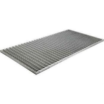 Решетка стальная оцинкованная ячейка 33х11 мм, 500х1000 мм, высота 30 мм