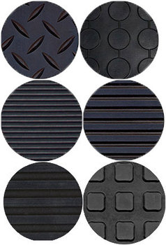 Рулонное резиновое рифленое покрытие, 1 х 10 м, толщина 3,5 мм, цвет черный