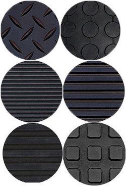 Рулонное резиновое рифленое покрытие, 1,5 х 10 м, толщина 3 мм, цвет черный