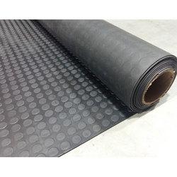 Рулонное покрытие из Термоэластопласта (ТЭП), 1 х 10 м, толщина 3 мм, цвет черный, рисунок Монетка