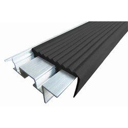 SafeStep закладной алюминиевый профиль безопасности противоскользящий, длина 2,4 м, Чёрный, Коричневый, Тёмно-Коричневый, Серый, Бежевый, цена за 1 шт.