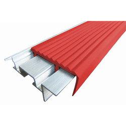 SafeStep закладной алюминиевый профиль безопасности противоскользящий, длина 1,2 м, цвет Жёлтый, Синий, Красный, Ярко-Зелёный, Белый, Голубой, цена за 1 шт.