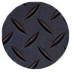 Рулонное резиновое рифленое покрытие Елочка, 1 х 10 м, толщина 3 мм, цвет черный